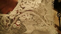 NEW Jessica Simpson Womens Junior Shirt Top Blouse White Lace Size Small Pretty!