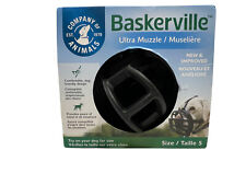 Baskerville Ultra Muzzle for Dogs, Size 5 - Black Ultimate Safety Large Dogs