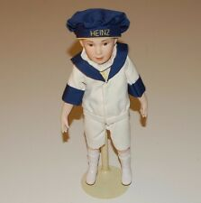 HEINZ BAKED BEAN BOY FRANKLIN MINT COUNTRY STORE PORCELAIN DOLL 13 INCH