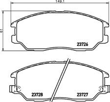 Textar Bremsbelagsatz VA Bremse Mando - Nr. 2372601