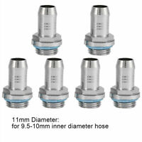 6Pcs Computer PC Water Cooling Two-Touch Fitting G1/4 11mm Barb Connector Tube