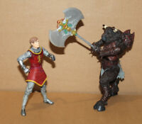 2005 Hasbro Disney Chronicles of Narnia King Peter & Otmin Action Figure Figur