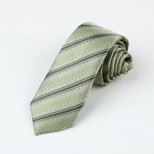 ZN1144 Dark Sea Green Stripes For Him Polyester Skinny Tie for Men By Epoint