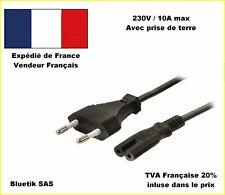 CABLE en 8 Bipolaire ALIMENTATION Electrique 1,82m e PS1 PS2 PS3 XBOX DREAMCAST