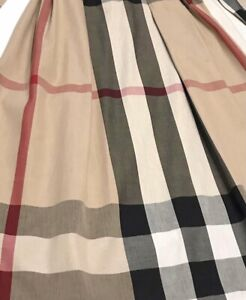 Women's Small Medium Dress Shirt Blouse Check Plaid Long Sleeve Belt Taupe Beige