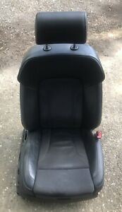 AUDI Q7 MK1 4L 2005-2009 FRONT RIGHT DRIVER SIDE HALF LEATHER SEAT S-LINE