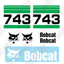 Bobcat 743 Skid Steer Set Vinyl Decal Sticker Aftermarket