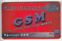 FRANCE  TELECARTE / PHONECARD  PREPAYEE .. 7€50 RUBICOM GSM SPECIAL 12/05 +N°