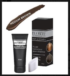 Ecobell Hairloss & Scalp Concealing Cream Lotion 50ml MEDIUM BROWN