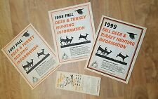 1973, 1997, 98, 99 Missouri Deer and Turkey Hunting Information Booklet Guides