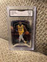 Lebron James #129 2019 Prizm Graded 10 Los Angeles Lakers