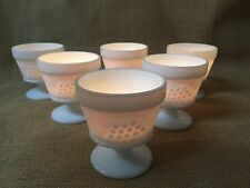 6 Indiana Harvest Grape Milk Glass Sherbet Dessert Cups Votive Wedding Decor Lot