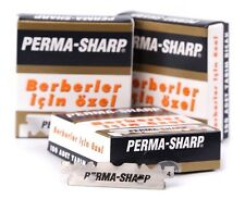 PERMA SHARP GILLETTE SINGLE EDGE PROFESSIONAL RAZOR BLADES 100 PIECES WORLD BEST