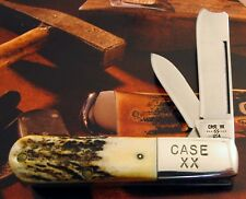 Case Stag Barlow Knife 1982 Issue Master Razor Blade & Case XX Bolster Stamp! NR