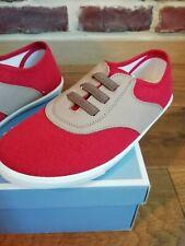 Chaussures baskets sneakers Jacadi garçon neuves T. 32 neuf rouge et beige