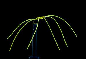 3 x Chartreuse Apps Bloodworm Blood Worm Flexi Floss Fly Flies, 6 Legs, Size 10