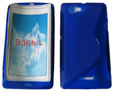 Pattern Gel Case Cover For Sony Ericsson Xperia L S36h C2105 C2104 C210X Blue UK