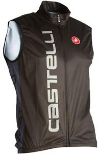 Castelli Men's Mortirolo Cycling Road Bike Wind Vest - Black/Grey (X-Large)