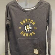 NHL Retro Boston Bruins Crewneck Sweatshirt New Womens LARGE