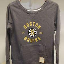 NHL Retro Boston Bruins Crewneck Sweatshirt New Womens MEDIUM
