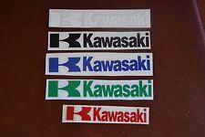 2 adesivi prespaziati logo replica kawasaki - vari colori