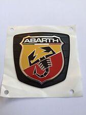 Original Abarth Emblem hinten Fiat 500 und 500C Abarth 735496473 Grau matt