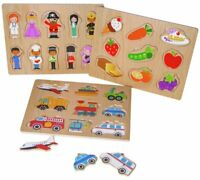 3 Pack Wooden Puzzles - Kids Education Activity Educational Toys Birthday Gift