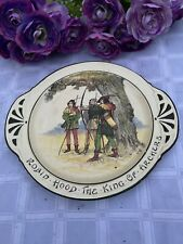Royal Doulton Robin Hood The King Of Archers handled plate Whitley Collection