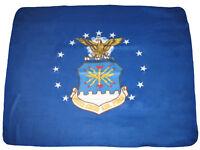 "U.S. Air Force Emblem Flag 50""x60"" Premium Quality Polar Fleece Blanket Throw"