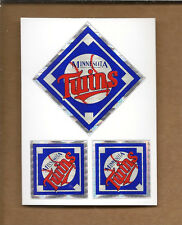 (10)-Minnesota Twins Stickers 3-per sheet Prizm Effect Kodak 80's/90's