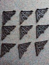 """Set Of 10 brown Cast Iron Shelf Brackets Brace 4""""x4"""""""