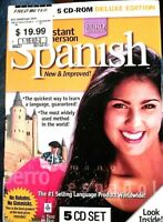 Instant Immersion Spanish [5 CD-ROM Set] Deluxe Edition Excellent condition CDs
