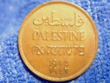 Palestine: 1942 Scarce Grade Bronze 2 Mils About UNC Traces de Menthe Luster
