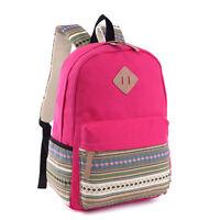 Lot Womens Girls Canvas Vintage Backpack Rucksack College Shoulder School Bag UK