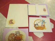 Vintage Calico Kitten Stationary Set/ Paper/ Envelopes/ Cards/ Postcards