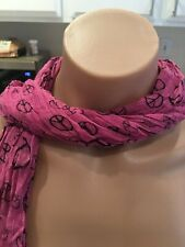 NWT Pink Scarf With Peace Signs