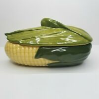 Vintage Shawnee Pottery Corn Cob Dish Covered Lid Made in USA