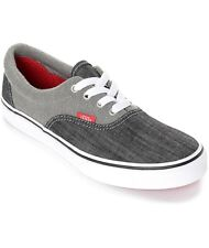 Vans Era Racing Red Jersey Denim Gray Youth 4 or 5.5 Women's Skate Shoes Nwb