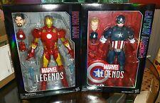 """Marvel Legends 12"""" Avengers LOT Captain America Iron Man premium action figures"""