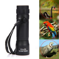 10x25 Optic Lens Telescope Night Vision Monocular Scope Binoculars Travel