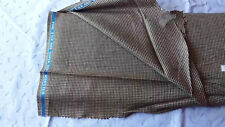 """Holland and Sherry Silk and Wool gold and black houndstooth fabric 2+yds x 60""""W"""