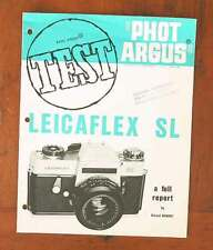 PHOT ARGUS LEICAFLEX SL TEST REPORT/35280