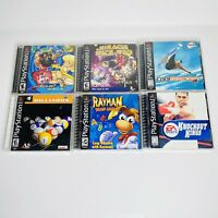 Lot of 6 PS1 Playstation 1 Mix Games w/ Manuals Cleaned TESTED WORKS case Damage
