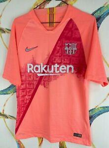 Barcelona Jersey Soccer Football 10 Manu T-Shirt Size L Men's