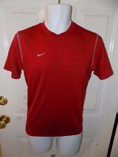 Nike Team Dri-Fit Short Sleeve Athletic Shirt Red Size L Men's Euc
