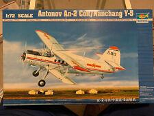 Trumpeter 01602 1/72 Antonov An-2 Colt/Nanchang Y-5 Plus Italeri Kit In Same Box