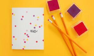 Handmade card simple hand-painted card (used)