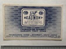 Buvard Beaumont / Fromage / Girod / Blotter