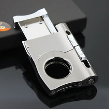 COHIBA two-in-one Stainless Steel Guillotine Cigar Cutter with 8mm&5mm punch