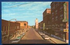 Gunsmoke Business Section Street downtown Dodge City Kansas ks cars postcard